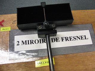 Liste for Miroir de fresnel